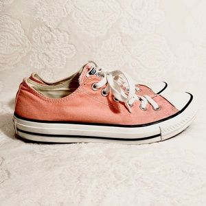 Low Rise Coral Pink Converse
